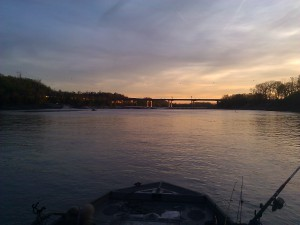 Looking upstream to Kaw fastwater 3-26-2012